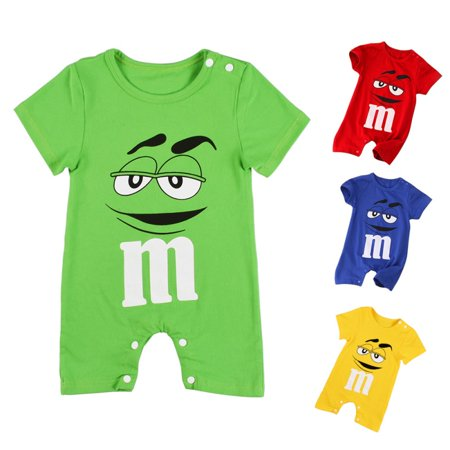 Kacakid Cute Infant Baby Boy Summer Short Sleeve Cotton Jumpsuit Rompers (Infant Baby Fleece Bubble Romper)