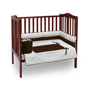 Baby Doll Bedding Royal Mini Crib/Port-a-Crib Bedding Set, Chocolate