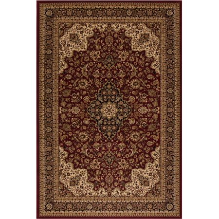 Concord Global Trading Persian Classics Collection Medallion Kashan Area Rug ()