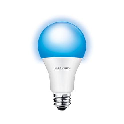 Merkury Innovations A21 Smart Light Bulb, 75W Color LED, (Best Smart Bulbs For Google Home)