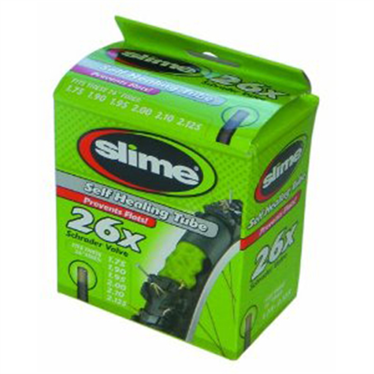 "Slime Self-Sealing Smart Replacement Bike/Bicycle Inner Tube, Schrader 26""x1.75-2.125"" - 30045"