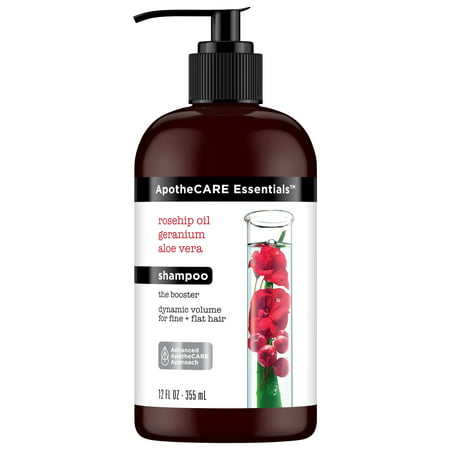 ApotheCARE Essentials The Booster Volumizing Shampoo Rosehip Oil, Geranium, Aloe Vera 12 (Adding Essential Oils To Shampoo For Hair Loss)