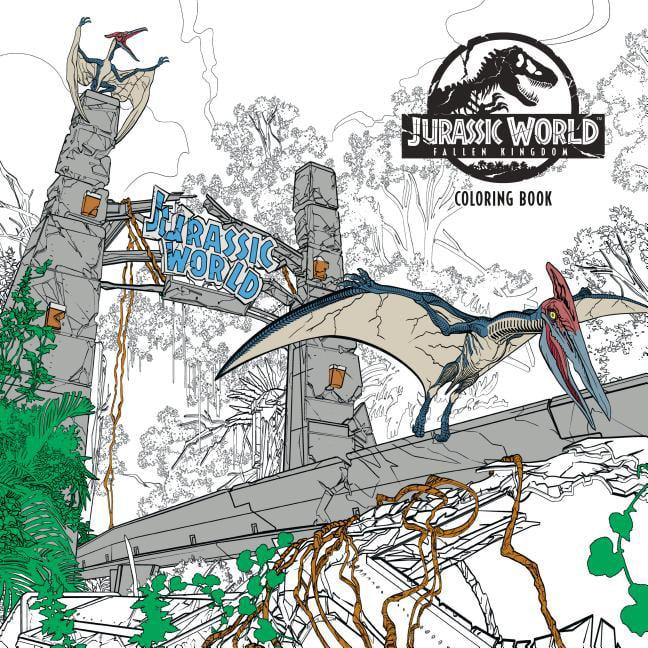 Jurassic World: Fallen Kingdom Adult Coloring Book (Paperback) -  Walmart.com - Walmart.com