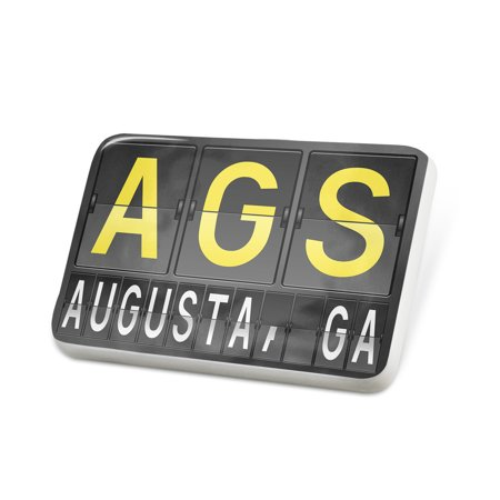 Porcelein Pin AGS Airport Code for Augusta, GA Lapel Badge – NEONBLOND](Party City Augusta Ga)