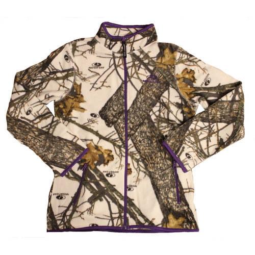 Mossy Oak Women's Fleece Camo Full Zip Jacket, MO Country by Generic