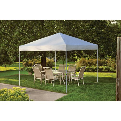 10' x 10' Pro Pop-up Canopy Straight Leg, White Cover