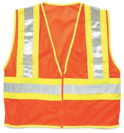 ML KISHIGO High Visibility Vest,Class 2,XL,Orange 1055-XL