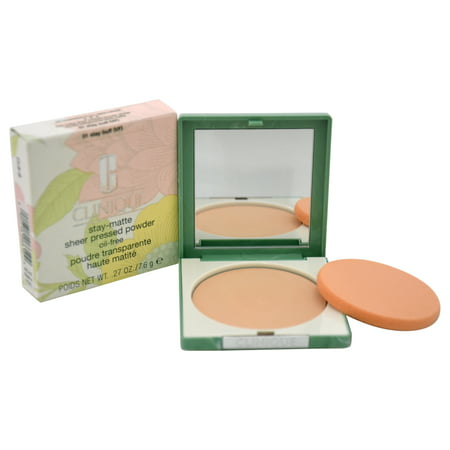 Stay-Matte Sheer Pressed Powder - # 01 Stay Buff (VF) - Dry Combination To Oily by Clinique for Women - 0.27 oz (Best Foundation For Oily And Dry Skin)