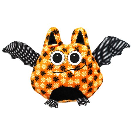 Bellapops Bat Orange/Black Halloween Plush Toy - By Ganz (6in)