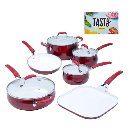 Tasty 11pc Cookware Set Non Stick Diamond Reinforced