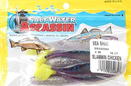 "Bass Assassin SSA25 4/"" Sea Shad Lure"