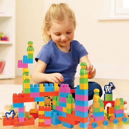 43b3f6a8022b Dimple Large Building Blocks for Kids (225-Piece Set) Stackable ...