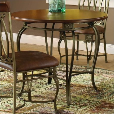 "Hillsdale Montello 36"" Round Table, Old Steel"