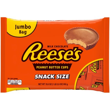 Reeses Peanut Butter Cup Jumbo Halloween Snack Size - 19.5oz