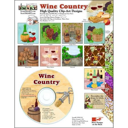 ScrapSMART Wine Country Clip-Art CD-ROM, Tasteful Illustrations for Scrapbook, Craft, Sewing