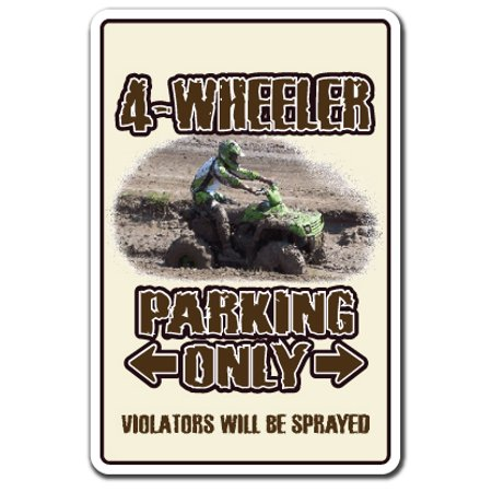 4-WHEELER Decal atv four wheeling 4x4 quad dirt 4-wheel | Indoor/Outdoor | 7