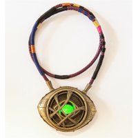 1:1 Doctor Strange Eye Of Agamotto Necklace Gemstone With LED Light Movable Cosplay Props