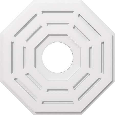 Ekena Millwork CMP26WN-07000 26 in. OD x 7 in. ID Square Westin Architectural Grade PVC Contemporary Ceiling Medallion - image 1 of 1