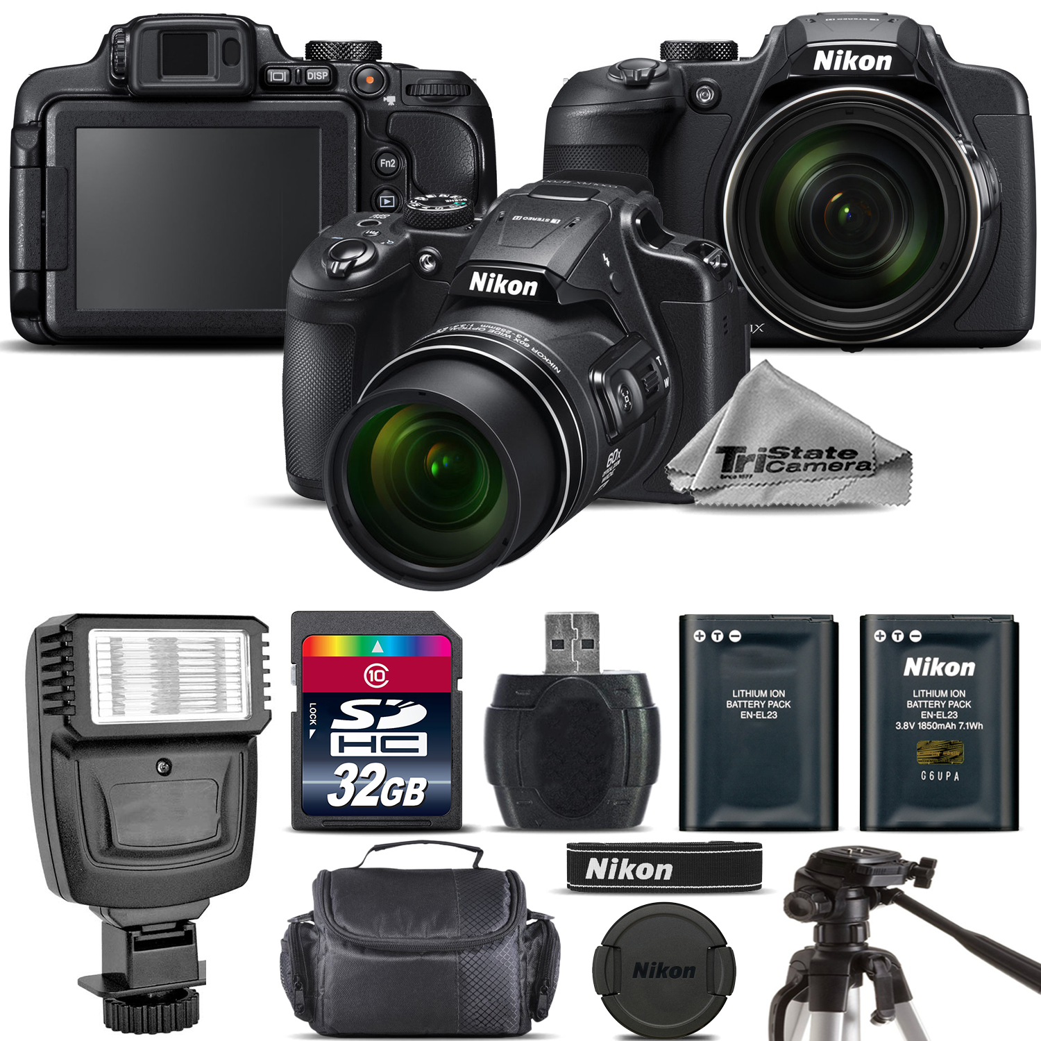 Nikon COOLPIX B700 Digital 20.2MP 4K Video WiFi NFC Camera 60x Zoom - 32GBGB Kit
