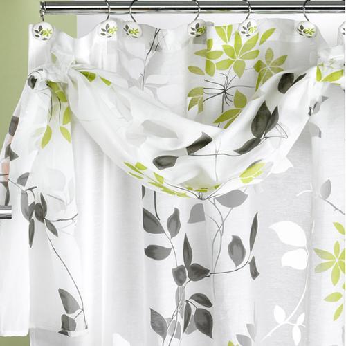Flor Verde Shower Curtain and Hooks Set or Separates Hooks Only (12)