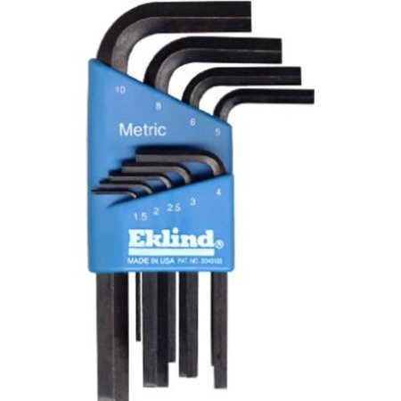 EKLIND 10509 Hex-L Key allen wrench - 9pc set Metric MM sizes 1.5-10 Short series, MADE IN AMERICA- High quality, Industrial Grade Professional Tools made in.., By Eklind Tool ()