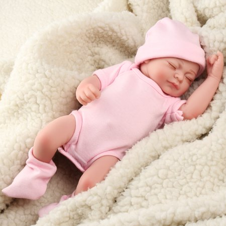 11'' Realistic Lifelike Realike Alive Newborn Reborn Babies Silicone Vinyl Reborn Baby Girl Dolls Handmade Weighted Alive Doll for Toddler Gifts High Quality - Dolls For Toddler Girl