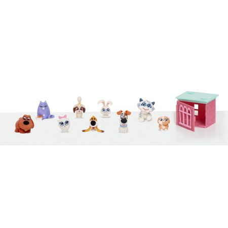 Secret Life of Pets 2 Collectible Carrier with Furry Friend - Blind Capsule- 3 Pack (The Blind Guy)