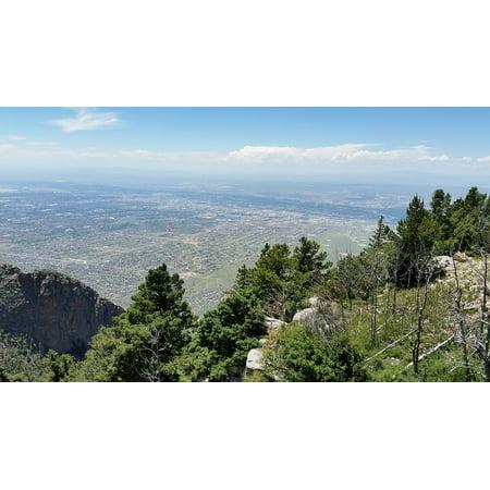 Canvas Print City Albuquerque Sandia Mountains New Mexico Stretched Canvas 10 x 14](Party City Albuquerque New Mexico)