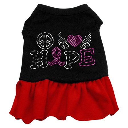 Mirage 57-62 XLBkRd Love Hope Breast Cancer Pet Dress Black w/Red XL for $<!---->