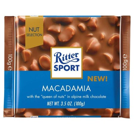 Ritter Sport Milk Chocolate with Macadamia, 100g