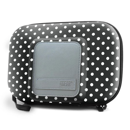 Universal Travel Case for 5 Inch GPS & Accessories by USA Gear (Polka Dot Design)