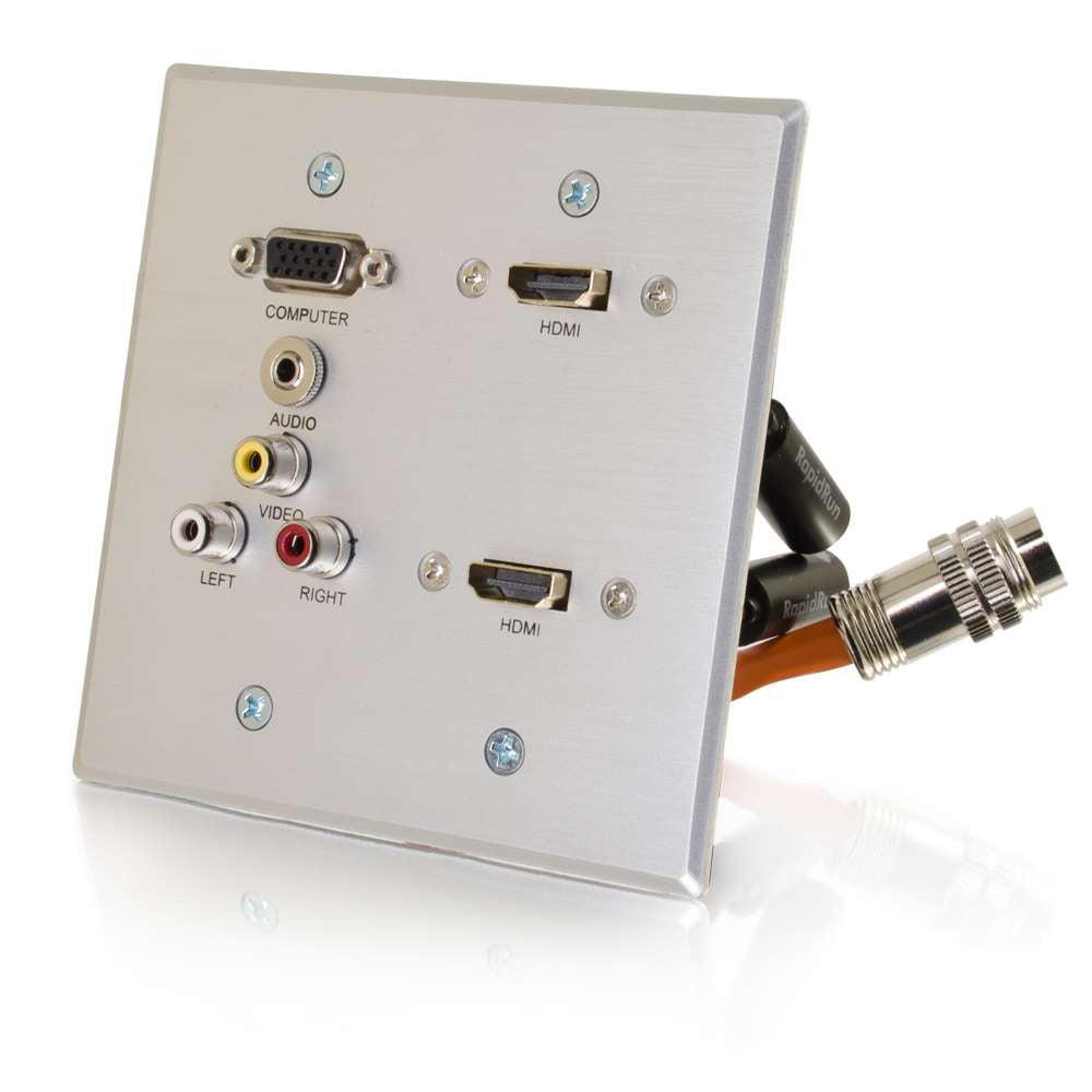 Cables to Go Dg Dual Hdmi,Vga,3Rca,3.5 Al Wp Rroptica
