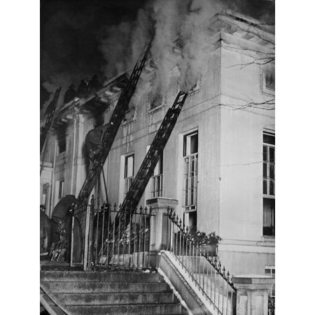 Christmas Eve Fire At The White House West Wing In 1929 Built During Theodore Roosevelt