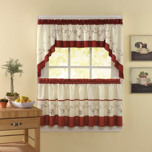 CHF Industries Grace Tailored Kitchen Curtain Set