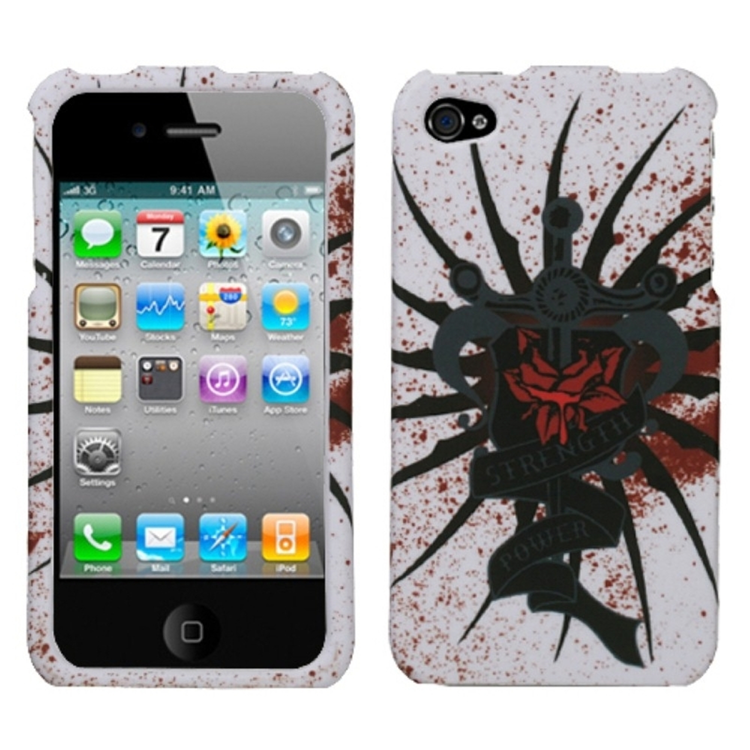 Insten Lizzo Bloody Rose Case For iPhone 4 4S
