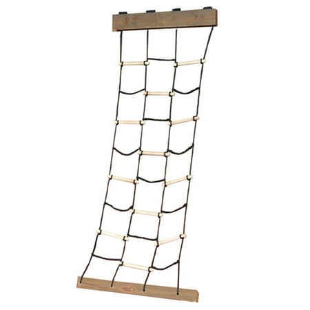 Childs Slide And Swing - Swing-N-Slide Climbing Cargo Net Rope and Wooden Dowel Climber for Play Sets