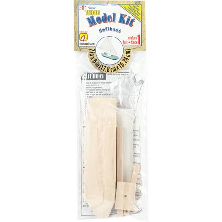 Wood Model Kit, Sailboat