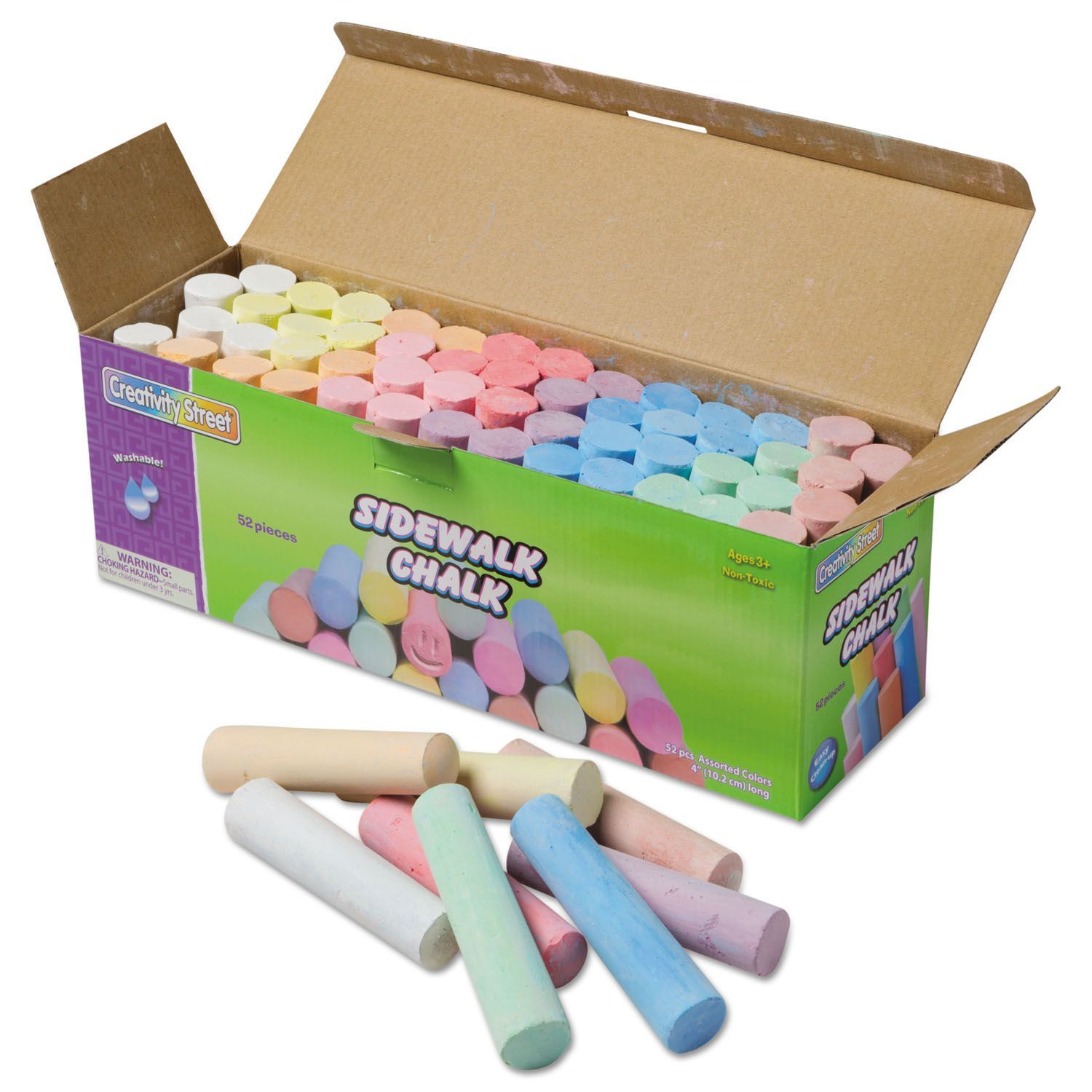 Pack of 2 Jumbo Sidewalk Chalk - 52 Pieces per Container