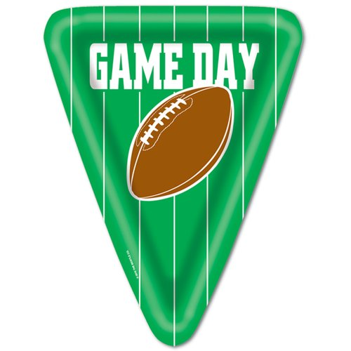 The Beistle Company Game Day Football Paper Plate (Set of 12)