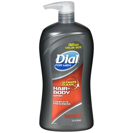 Dial for Men Body Hair + Body Wash, Ultimate Clean, 32 Ounce