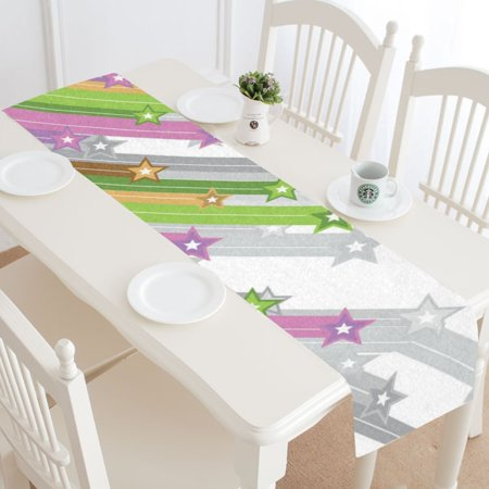 MKHERT Shooting Stars Table Runner for Office Kitchen Dining Wedding Party Home Decor 14x72 inch