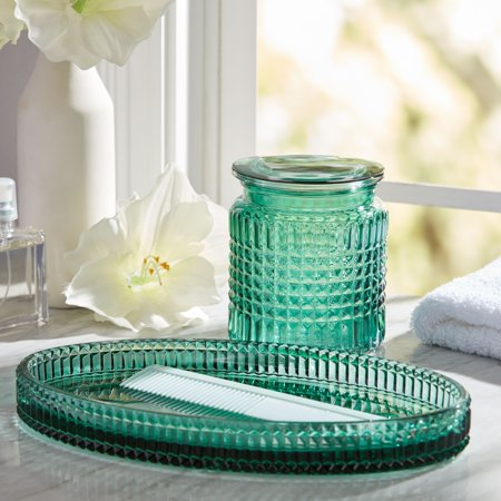 2 Piece Glass Bath Accessory Set by Drew Barrymore Flower Home ()