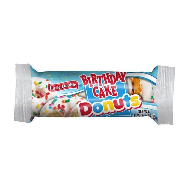 Excellent Little Debbie Birthday Cake Mini Donuts 4 Oz Walmart Com Funny Birthday Cards Online Eattedamsfinfo