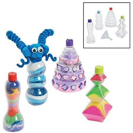 Fun Express Funny Sand Art Bottles Crafts for Kids Sand Art - 12 Pieces - Sand In A Bottle