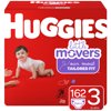 HUGGIES Little Movers Diapers, Size 3, 162 Count