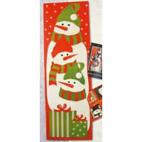 """Club Pack of 108 Snowman Christmas Card Wall Holders 36"""""""