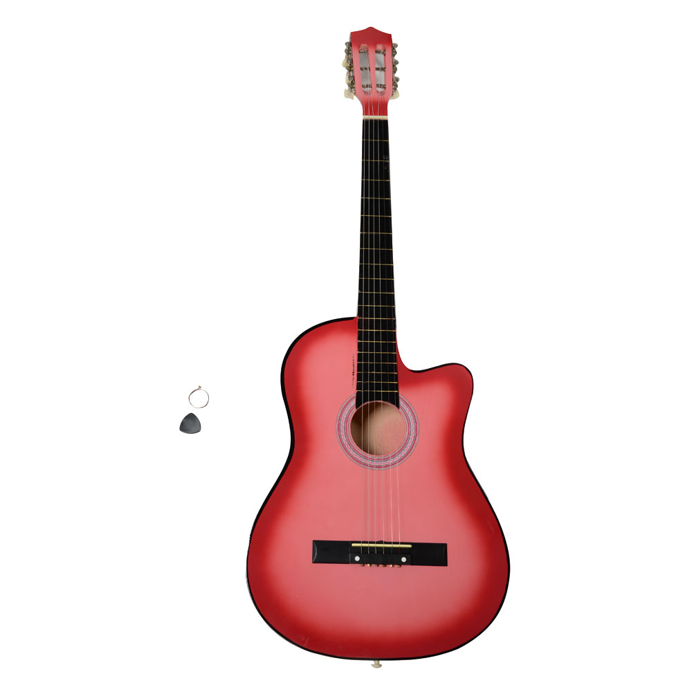 Ktaxon 38 Inch Cutaway Acoustic Guitar Set for Beginner Multi-colors by