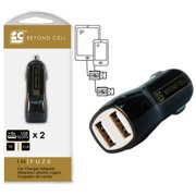 BLACK 3.1A DUAL USB 2 PORT CAR CHARGER ADAPTER UNIVERSAL FOR CELL PHONE TABLET