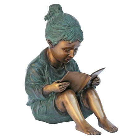 Design Toscano Story Book Girl Bronze Garden Statue (Storybook Decorations)
