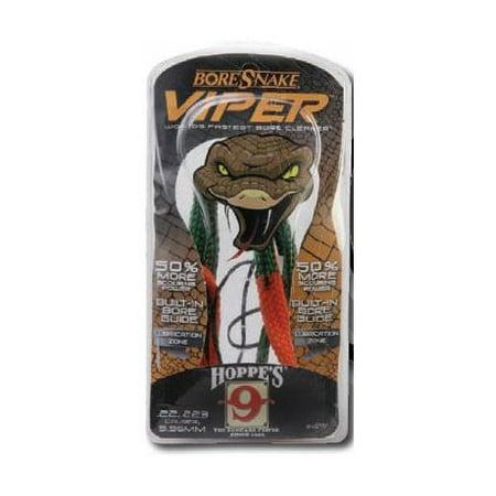 HOPPES BORESNAKE VIPER BORE CLEANER M-16, .22-.225 CALIBER BRONZE BRISTLE